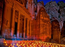 Show of night lights in Petra-83